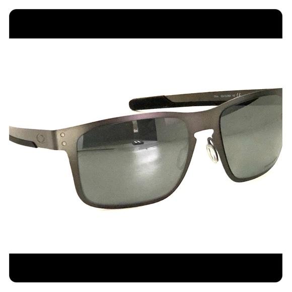 31be41a380 Oakley Holbrook Metal Sunglasses OO4123 Gunmetal
